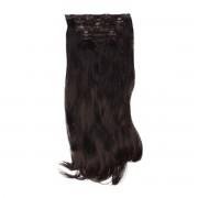 Rapunzel® Synthetische extensions Clip-on Set Synthetic 5 pieces Beach Wave 1.2 Black Brown 50 cm