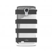 Capa PURO Stripe para Samsung Galaxy S4 i9500, i9505 - Cinzento / Preto