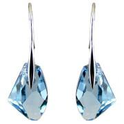 Cercei argint cristal Swarovski galactic blue