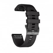 Curea silicon Tech-Protect Smooth Garmin Fenix 3/5X/3HR/5X Plus/6X/6X Pro Black