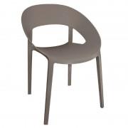 CHRselect Chaise Enveloppante en PP Café Empilable Lot de 12