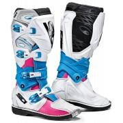 Sidi X-3 Lei Damas botas de Motocross Blanco Rojo Azul 40