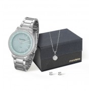 Kit Relógio Mondaine Feminino + Cordão e Brincos 53536L0MVNE2K