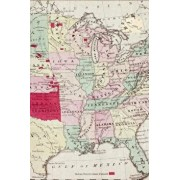Map showing the location of the Indian [Native American] Tribes within the United States: A Poetose Notebook / Journal / Diary (50 pages/25 sheets), Paperback/Poetose Press