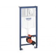 Rezervor WC incastrat Grohe Rapid SL 3 in 1, cu cadru de instalare si clapeta de actionare Skate Air, 6-9 l, 50x113 cm, set de prindere in perete