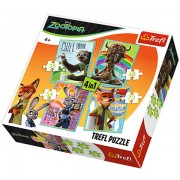 Trefl Puzzle Slagalica 4u1 Disney Zootopia (34258)