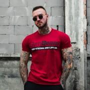 GymBeam Majica Keep Strong Antique Cherry XXL