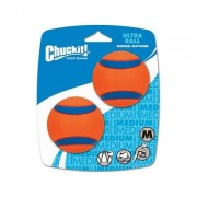 Chuckit! Ultra Rubber Ball Dog Toy, Medium, 2 pack