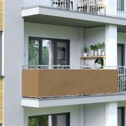 Jarolift Brise-vue pour balcon Basic, tissu imperméable, Brun, 500x90 cm