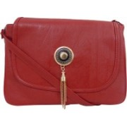 Estoss Red PU Casual Women's and Girl's Sling Bag Red Sling Bag