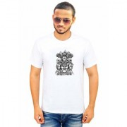DOUBLE F ROUND NECK HALF SLEEVE WHITE COLOR UNIQUE PATTERN PRINTED T-SHIRTS