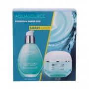Biotherm Aquasource Hydration Power Duo подаръчен комплект гел за лице Aquasource Gel 50 ml + серум за лице Aquasource Deep Serum 50 ml за жени