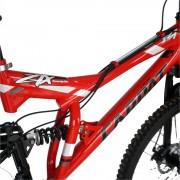 Bicicleta MTB-FS 26 Carpat ZTX C2642A cadru otel rosunegru