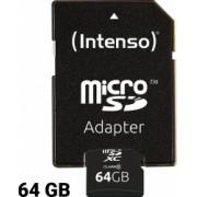 Card de Memorie Micro SD cu Adaptor INTENSO 3413490 64 GB Clasa 10