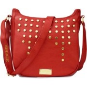 SPLICE Leather PU Women & Girls Casual College Office Stylish Latest Sling Bags Red Sling Bag