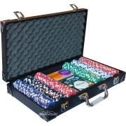 Кожено куфарче с 300 покер чипа без номинали