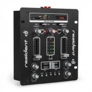 Resident DJ DJ-25 DJ-Mixer mesa de mezclas amplificador Bluetooth USB negro/blanco (DJMM2-DJ-25 WH)