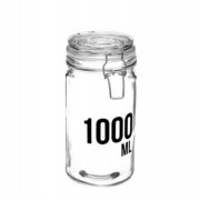 Set 4 Borcane din sticla cu cleme metalice 1000 ML 750 ML 500 ML 250 ML