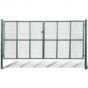 vidaXL Градинска мрежеста оградна врата, 415 x 225 см / 400 x 175 см
