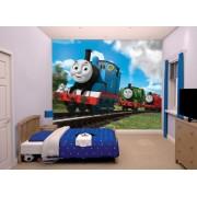 Thomas och vännerna Thomas Tåg Tapet - Walltastic Thomas 3D barntapet 43879