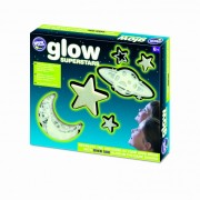 Corpuri ceresti din univers fosforescente The Original Glowstars Company, Alb/Verde