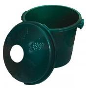 Cos damigeana 10 litri din plastic verde