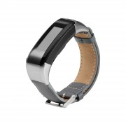 PU Leather Watch Band Strap with Connector and Tool for Garmin Vivosmart HR - Grey