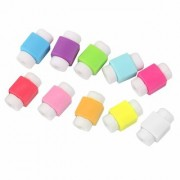 KUSHAHU 10pcs Protector Saver Cover for iPhone iPad USB Charger Cable Cord (Assorted colour)