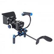 YELANGU DSLR Rig Movie Kit de montaje en el hombro Rig w / Follow Focus? Matte Box para todas las camaras DSLR