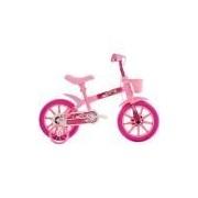 Bicicleta Feminina Track & Bikes Arco-Íris Aro 12 Rosa