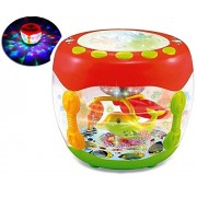 Musical Flash Drum with Flashing Lights and Fish Assorted Colors