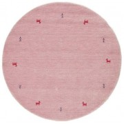 RugVista Tapis Gabbeh loom Two Lines - Rose Ø 150 Tapis D'orient, Rond