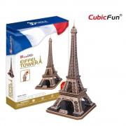 CubicFun Turnul Eiffel Paris Franta Puzzle 3D - 82 de piese