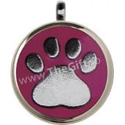 Medalion pentru catei si pisici, model labuta