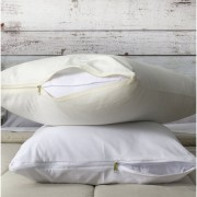Funda de almohada con cierre 1,00x0,50 Mts Blanco o Natural