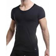 Cut For Men C4M Solid Crew Neck Short Sleeved T Shirt Black C4M06
