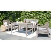 DELANO 6 személyes kerti ülőgarnitúra, homokszínű