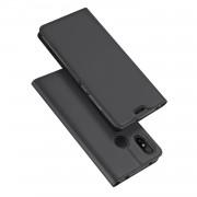DUX DUCIS Skin Pro Series Card Holder Stand Leather Mobile Case for Xiaomi Mi A2 Lite / Redmi 6 Pro - Dark Grey