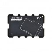 JJC - Cutie pentru carduri de memorie Micro SD, 10 compartimente, gri