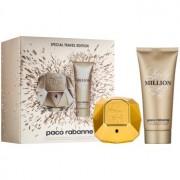 Paco Rabanne Lady Million lote de regalo VIII. eau de parfum 80 ml + leche corporal 100 ml