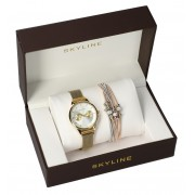 SKYLINE dámská dárková sada hodinky s náramkem MP016