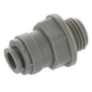 DMFit Raccord droit 1/4 fileté + joint - 1/4 tube
