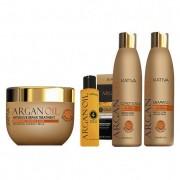 Kativa Argan Oil Pack: Champú (250ml) + Acondicionador (250ml) + Mascarilla (250ml) + Argan Oil 4 Oils (60ml)