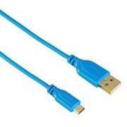 Kabl USB 2.0 na microUSB M/M pozlaćen plavi Hama 35701, 0.75m