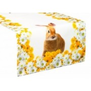 Velikonoční běhoun na stůl Zajíc