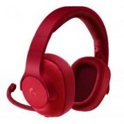 Геймърски слушалки logitech, g433 7.1 dts headphone x, микрофон, червени, logitech-head-g433-red