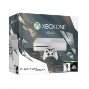 Consola Xbox One 500 GB alb + 2 jocuri (Quantum Break si Alan Wake)