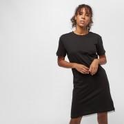 Urban Classics Ladies Boxy Lace Hem Tee Dress - Zwart - Size: Extra Small; female