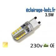 Ampoule LED G9 3.5w silicone blanc chaud 230v ref g9-02