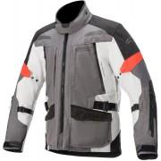 Alpinestars Valparaiso V3 Drystar Motorcykel textil jacka Svart Grå Vit 4XL